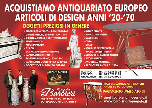 Compro Antiquariato Europeo ed Italiano